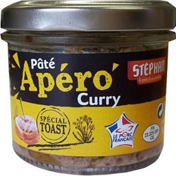 Stéphan Apéro - Pâté curry spécial toast la boite de 90 g