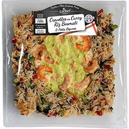 Crevettes curry riz aux légumes