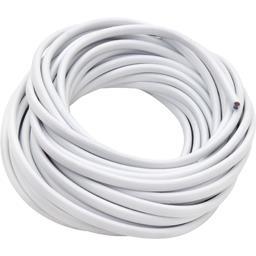 Câble souple 2x075mm 5m, blanc