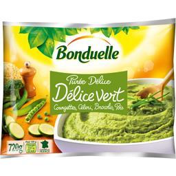 Purée Délice Vert courgettes, céleri, brocolis et pois