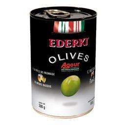 Olives vertes à la farce de fromage de brebis Basque Agour
