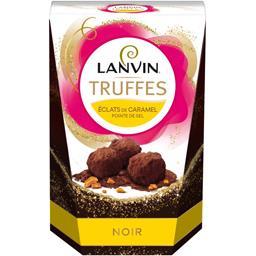 Lanvin Truffes chocolat noir éclats de caramel pointe de se...