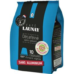 Café Launay Capsules de café décaféiné sans solvant le paquet de 10 - 53 g