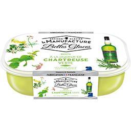 Glace à la ligueur de Chartreuse verte