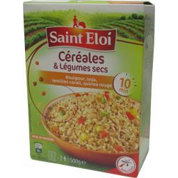 Mélange céréales et légumes secs