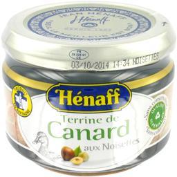 Terrine de canard aux noisettes,HENAFF,le pot de 180 Gr