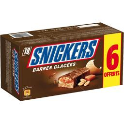Snickers Barres glacées chocolat cacahuètes