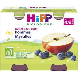 Délices de Fruits - Pommes myrtilles BIO, dès 4/6 mo...
