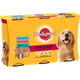 Terrines Saveurs 3 variétés pour chiens