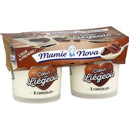 Cœur de Liégeois - Dessert 3 chocolat