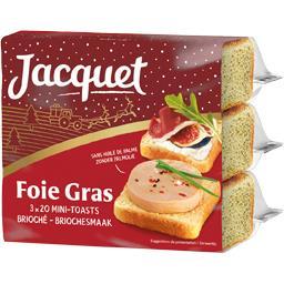 Mini-toasts brioché pour foie gras