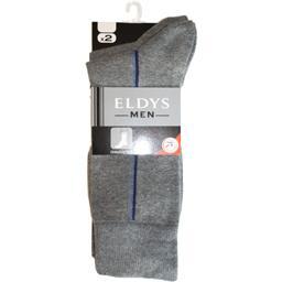 Mi-chaussettes homme baguette gris chiné / bleu t43/...
