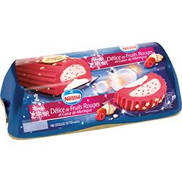 Bûche glacée Délice de fruits rouges et cœur de meri...