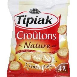 Croûtons nature croustillants ,TIPIAK,le sachet de 90g