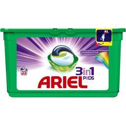 ARIEL 3 en 1 Pods Couleur/Style Lessive Capsules 35Lavages