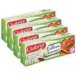 Chabrior Biscuits Tableau d'Honneur chocolat au lait et noise... le lot de 3 paquets