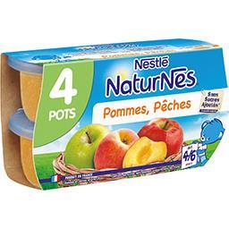 Nestlé Naturnes Pommes pêches, dès 4-6 mois
