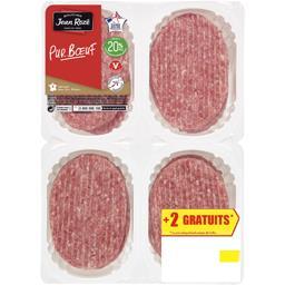 Jean Rozé Steaks hachés pur bœuf 20% la barquette de 8 - 800 g