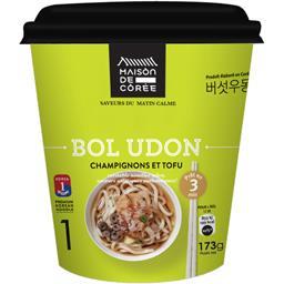 Bol Udon champignons et tofu