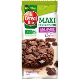 Maxi cookies pépites de chocolat noir et cacao BIO