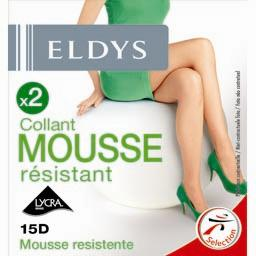 Collants mousse résistant noir T2