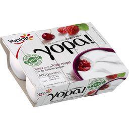Yopa! - Yaourt nature sur lit de fruits rouges