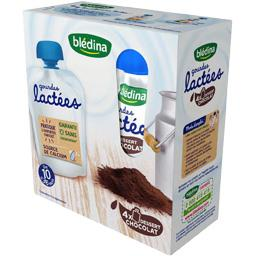 Gourdes lactées chocolat, de 10 à 36 mois