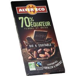 Chocolat noir 70% Equateur BIO & équitable