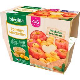Desserts pommes mirabelles, de 4/6 à 36 mois