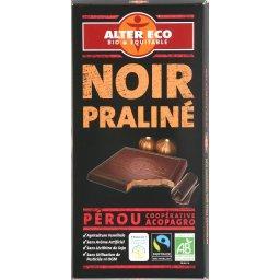 Chocolat noir BIO du Pérou fourré praliné