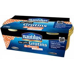 Nautilus Mes Petits Gratins de saumon aux poireaux les 2 verrines de 90 g