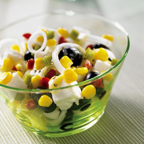Salade grecque au maïs
