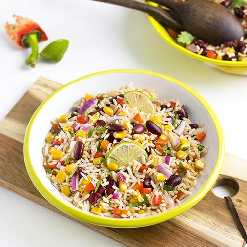 """Salade de riz complet """"à la mexicaine"""""""