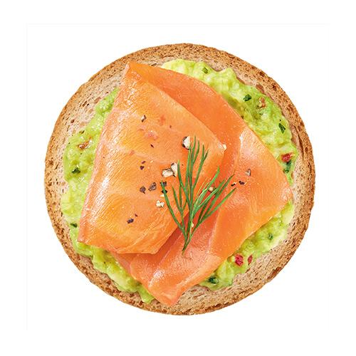 Toast pesto et saumon