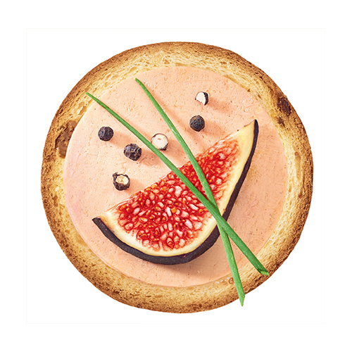 Toast foie gras et compotée de figues
