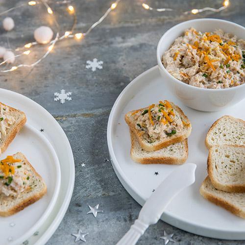 Mini Toasts au crabe et zestes d'orange