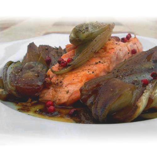 Pavé de saumon et endives caramélisées