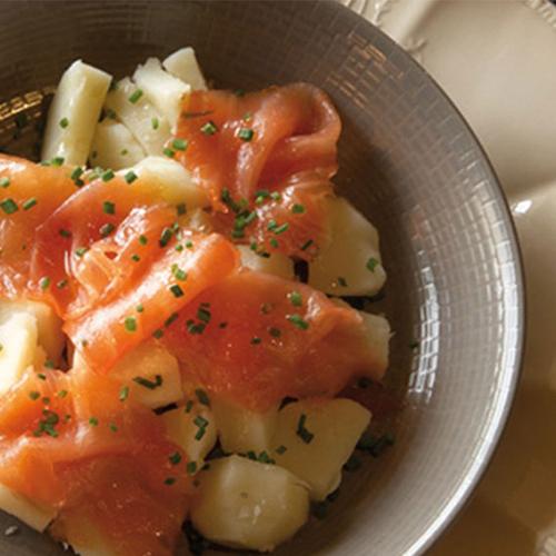 Salade de Princesse Amandine au saumon