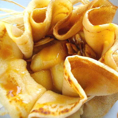 Aumônières poires et miel