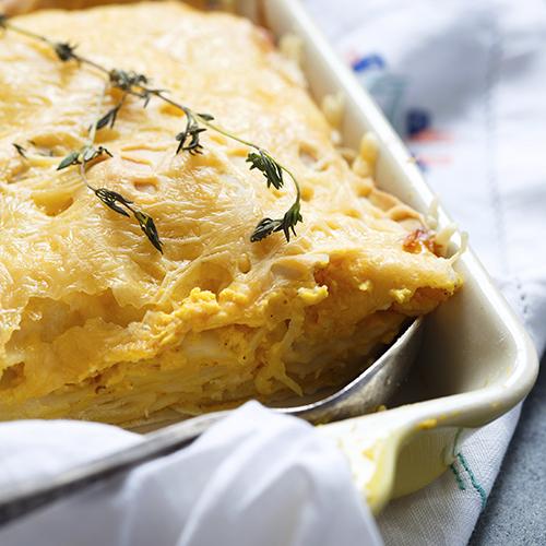 Lasagnes au potiron et au fromage frais