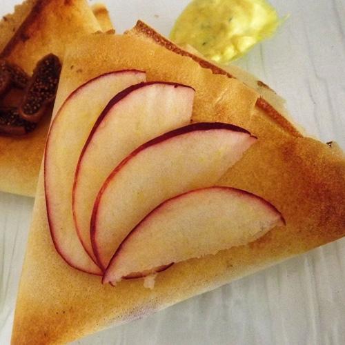 Pommes au miel en feuilles de brick