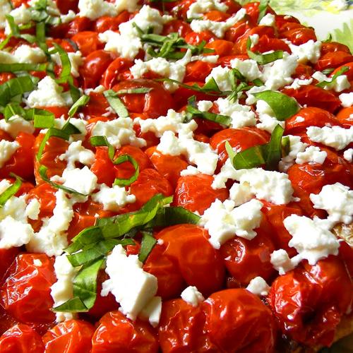 Tatin de tomates à la menthe fraiche, avec Planta Fin