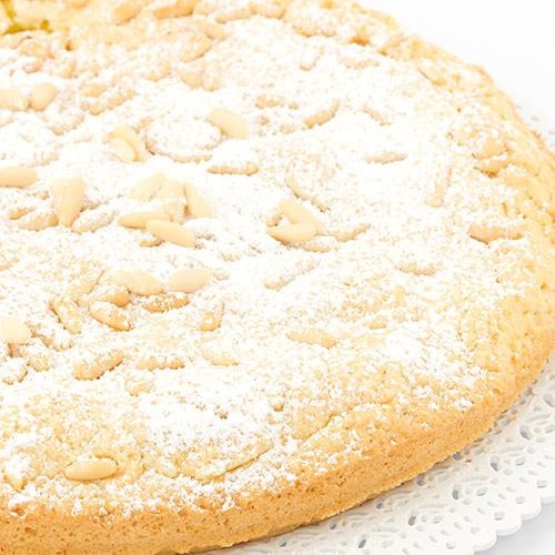 Torta della nonna (Gâteau Toscan à la crème pâtissière et aux pignons)