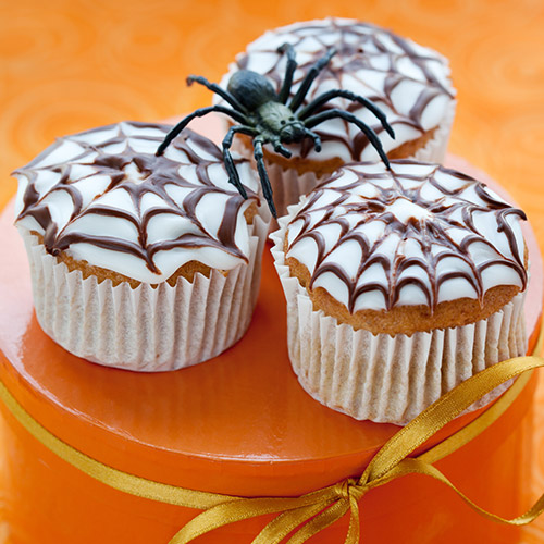 Cupcakes araignée d'Halloween
