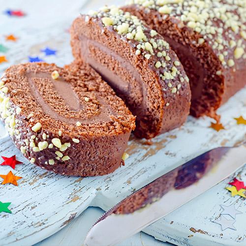 Bûche de Noël tout chocolat