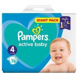 Active Baby Rozmiar 4, 76 pieluszek, 9-14 kg