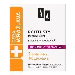 Cera Wrażliwa krem półtłusty do każdego rodzaju cery 24h - bezzapachowy 50 ml