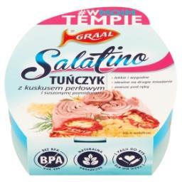 Salatino Tuńczyk z kuskusem perłowym i suszonymi pom...