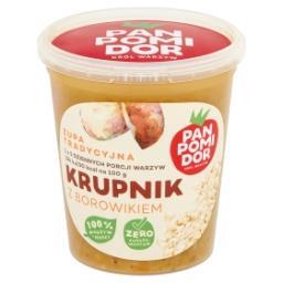 Zupa tradycyjna krupnik z borowikiem