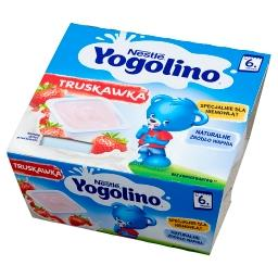 Yogolino Deserek mleczno-owocowy truskawka po 6 miesiącu 400 g (4 x )